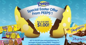 easter candy coupon chocolate dipped peepsters