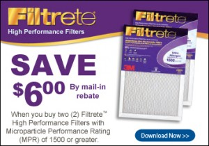filtrete allergen air conditioner filter sale mail in rebate