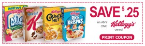 save on ONE box kelloggs cereal