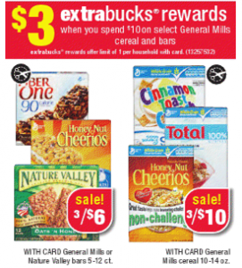 stock up on general mills cereal snack bars at cvs this week socal coupon gal. Black Bedroom Furniture Sets. Home Design Ideas