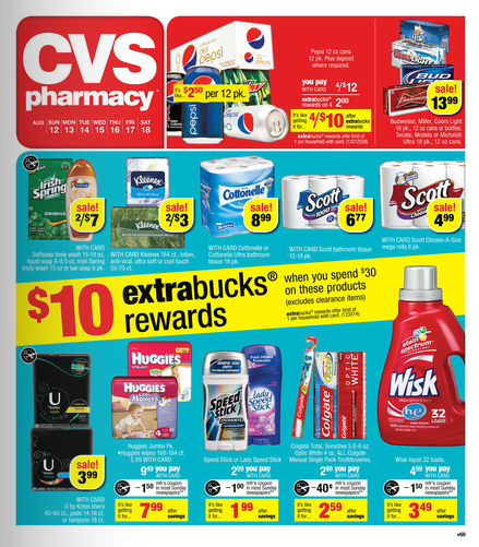 CVS weekly sales ad coupon match-ups 8/12 - 8/18