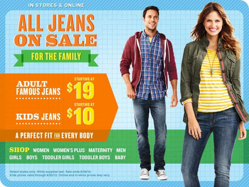 annual Old Navy jean sale