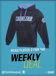 NCAA fleece sale