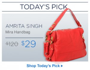 hautelook today's pick amrita singh handbag