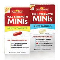 nature made full strength minis supplements vitamins