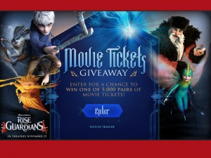 enter to win certificate good for two movie tickets from Hollywood movie money and sun maid
