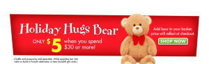 $5 stuffed animal with purchase of $30 Build A Bear Workshop