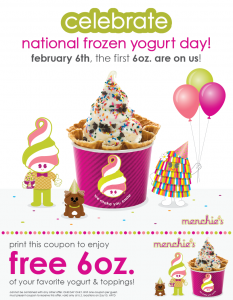 frozen yogurt day february 6 2013 free frozen yogurt offer